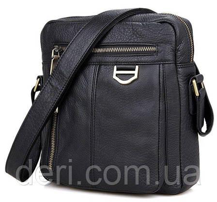 Сумка мужская Vintage 14436 через плечо Черная, Черный, фото 2