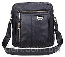 Сумка мужская Vintage 14436 через плечо Черная, Черный, фото 3