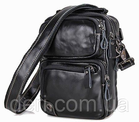 Сумка мужская Vintage 14437 Черная, Черный, фото 2