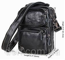 Сумка мужская Vintage 14437 Черная, Черный, фото 3