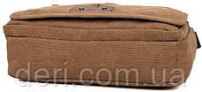 Сумка мужская Vintage 14445 текстильная Коричневая, Коричневый, фото 2