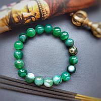 Браслет 3 глаза Дзи /процветание, уважение, долголетие, здоровье, богатство