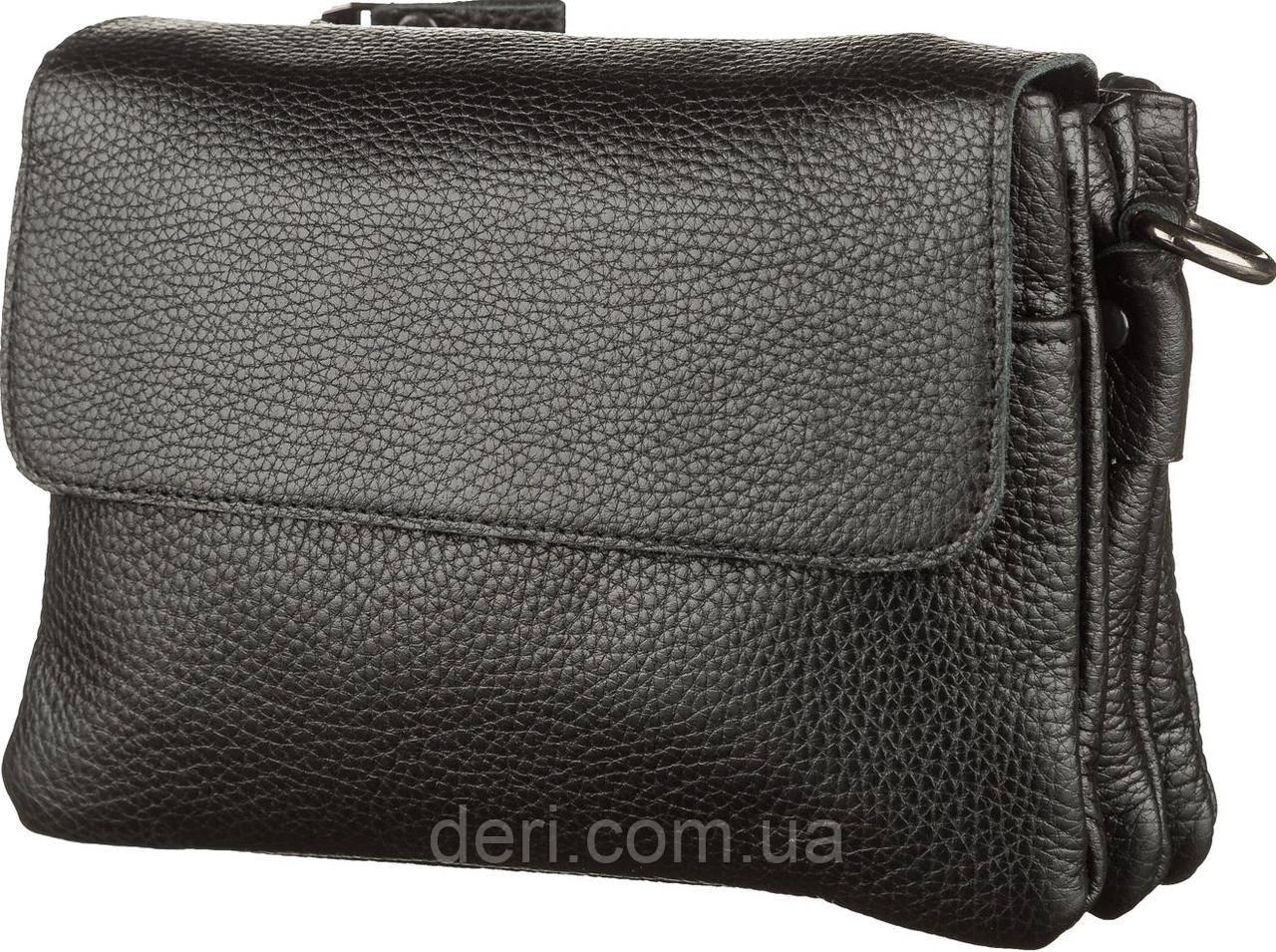 Мужская сумка SHVIGEL 11038 кожаная, Черная, Черный