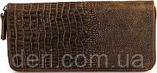 Мужской клатч Vintage 14462 кожа под крокодила Коричневый, Коричневый, фото 3