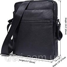 Сумка мужская Vintage 14486 Черная, Черный, фото 3