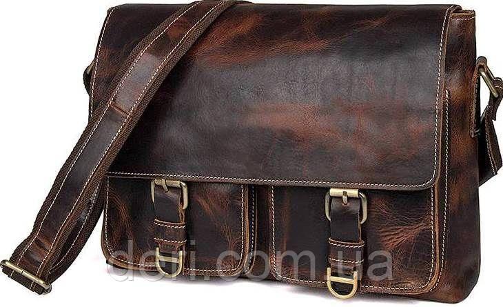 Сумка мужская Vintage 14524 Коричневая, Коричневый