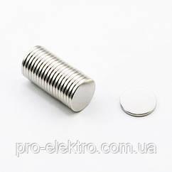 Неодимовый магнит диск 10х1 мм