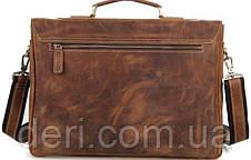 Сумка Vintage 14541 из натуральной кожи Коричневая, Коричневый, фото 2