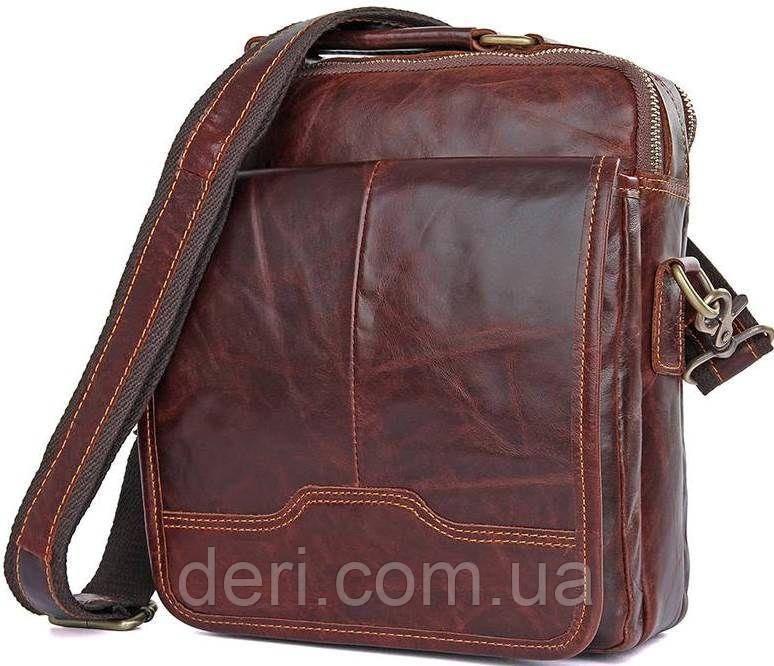 Сумка Vintage 14550 из натуральной кожи Коричневая, Коричневый