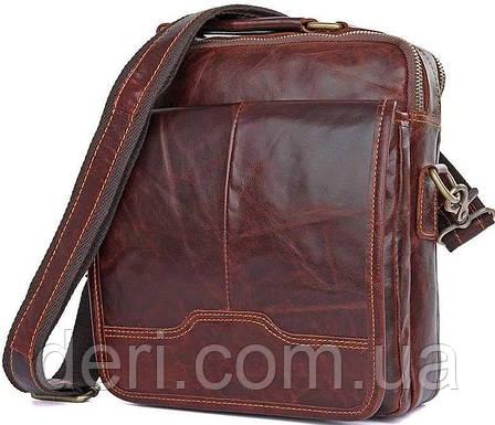 Сумка Vintage 14550 из натуральной кожи Коричневая, Коричневый, фото 2