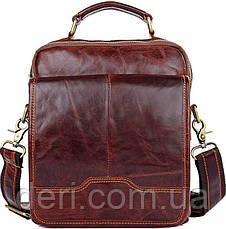 Сумка Vintage 14550 из натуральной кожи Коричневая, Коричневый, фото 3