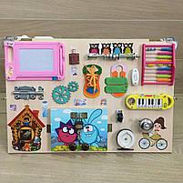 "Розвиваючий ""Бизиборд"" busy board ""Смішарики"" 60*40 см, фото 2"