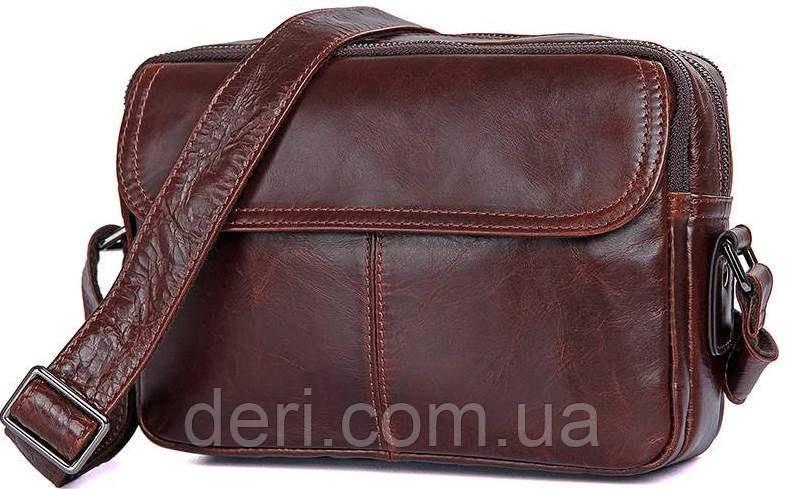 Сумка мужская Vintage 14558 из натуральной кожи Коричневая, Коричневый