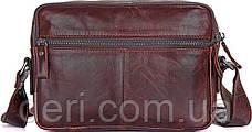 Сумка мужская Vintage 14558 из натуральной кожи Коричневая, Коричневый, фото 3