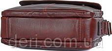 Сумка мужская Vintage 14558 из натуральной кожи Коричневая, Коричневый, фото 2