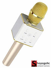 Беспроводной Караоке Микрофон Q7 для Android и IPhone Золотой