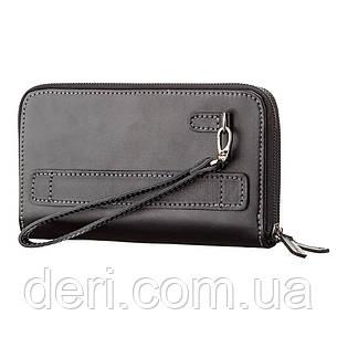 Мужской клатч SHVIGEL 11082 кожаный Черный, Черный, фото 2