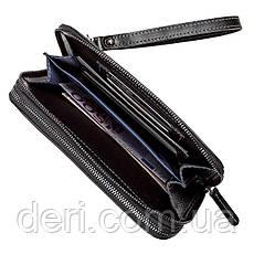 Мужской клатч SHVIGEL 11082 кожаный Черный, Черный, фото 3