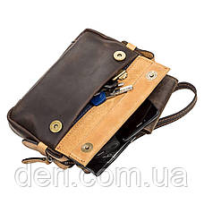 Мужской клатч SHVIGEL 11086 кожаный Коричневый, Коричневый, фото 2