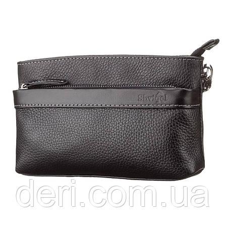 Мужской клатч SHVIGEL 11087 кожаный Черный, Черный, фото 2