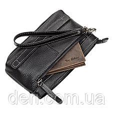 Мужской клатч SHVIGEL 11087 кожаный Черный, Черный, фото 3