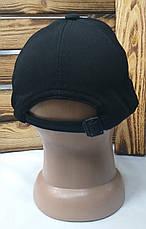 Мужская кепка New York черного цвета, материал лакоста, сезон весна-лето, большая вышивка, на регуляторе, фото 3