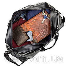 Дорожная сумка SHVIGEL 11120 кожаная Черная, Черный, фото 2