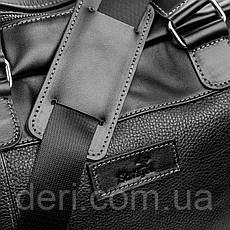 Дорожная сумка SHVIGEL 11120 кожаная Черная, Черный, фото 3