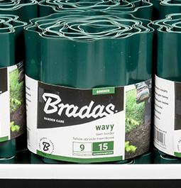 Бордюр для газона Bradas 15 см* 9 м Зеленый OBFG 0915