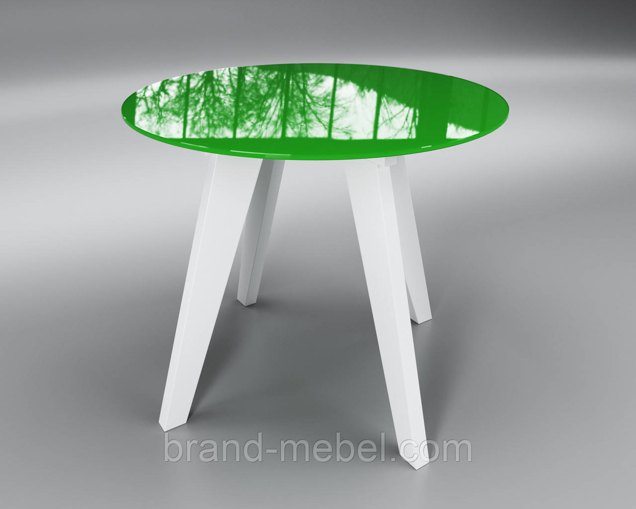 Стол стеклянный Леонардо Круг