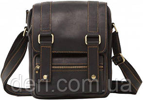 Сумка мессенджер Vintage 14573 кожаная Черная, Черный, фото 2