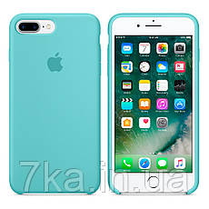 online store bea94 75caf Силиконовый чехол Silicone Case Ice Blue для iPhone 7 plus / 8 plus (Лучшая  копия)