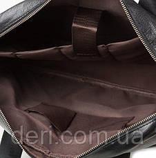 Сумка мужская Vintage 14625 кожаная Черная, Черный, фото 2