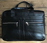 Сумка мужская Vintage 14625 кожаная Черная, Черный, фото 7