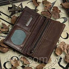 Бумажник мужской Vintage 14170 Коричневый, Коричневый, фото 3