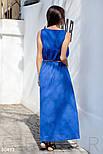 Летний сарафан с ярким декором синий, фото 3