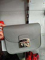 74ef9c7957f4 Сумка клатч в стиле Furla metropolis со сменным клапаном золотистая  фурнитура серый