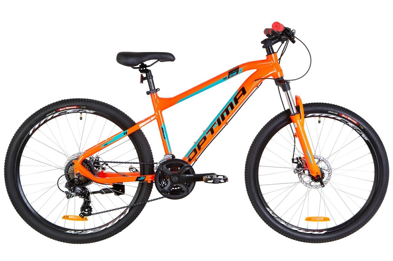 """Велосипед горный 26"""" Optimabikes F-1 HDD 2019 (рама 18"""", оранжево-бирюзовый)"""