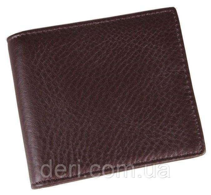 Мужской компактный кошелек коричневый