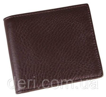 Мужской компактный кошелек коричневый, фото 2
