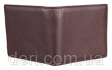 Мужской компактный кошелек коричневый, фото 3