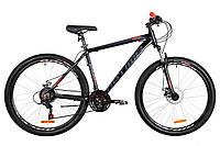 """Велосипед горный 27.5"""" Optimabikes MOTION DD 2019 (черно-оранжевый)"""