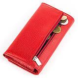 Кошелек женский KARYA 17002 кожаный Красный, Красный, фото 3