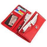 Кошелек женский KARYA 17002 кожаный Красный, Красный, фото 4