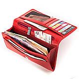 Кошелек женский KARYA 17002 кожаный Красный, Красный, фото 5