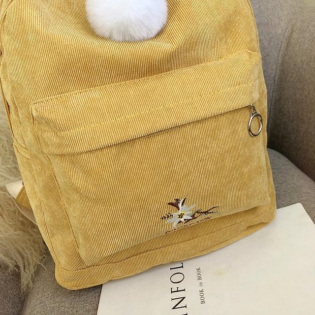 Міський рюкзак з вельвету