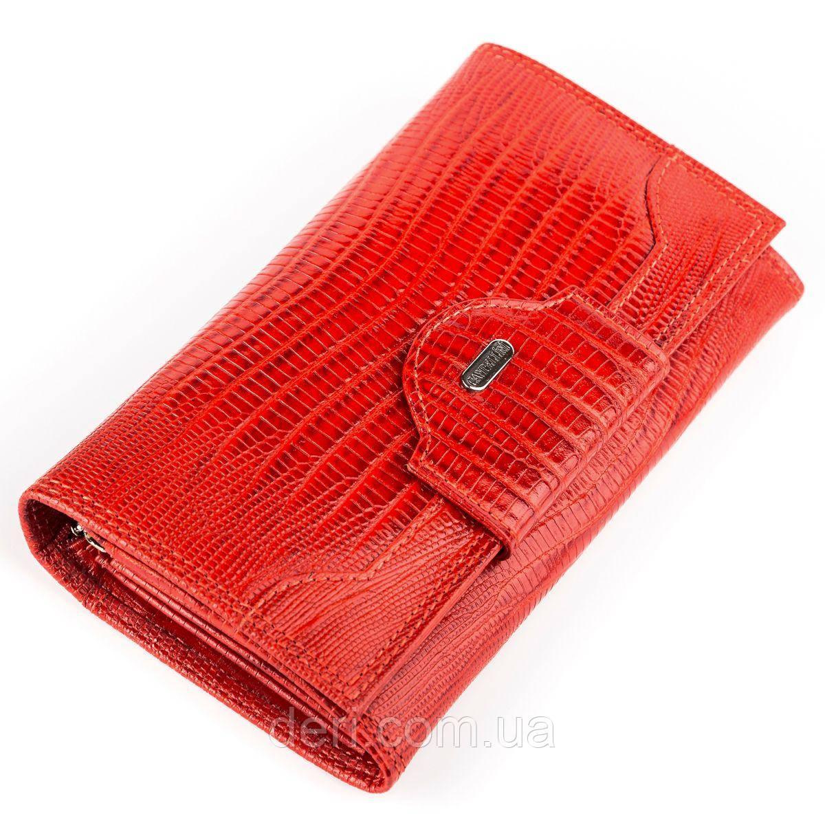 Кошелек женский CANPELLINI кожаный Красный, Красный