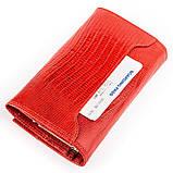 Кошелек женский CANPELLINI кожаный Красный, Красный, фото 3