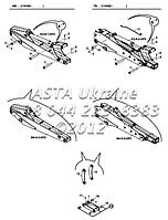 Крепления стрелы В4-5-1-ЕП2 на Hidromek 102B
