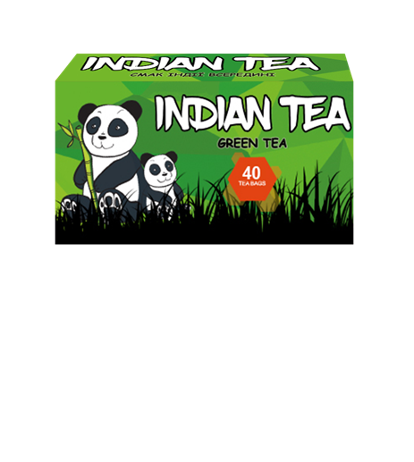 Чай зелёный пакетированный Indian Tea 40 х 1.8 г